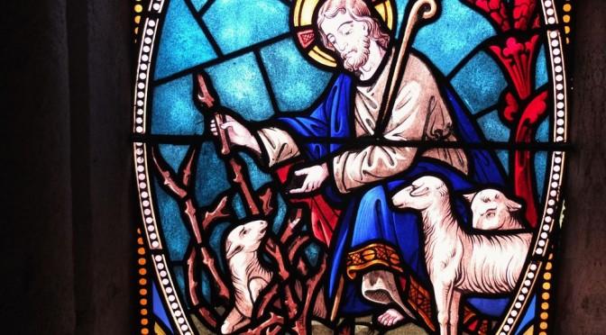 vitrail du bon berger pour le 24e dimanche ordinaire C