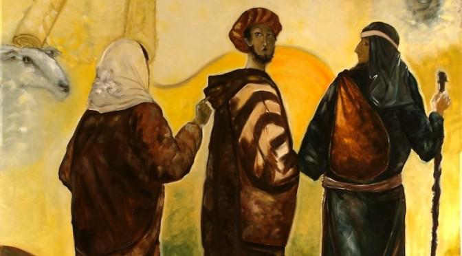 Pèlerins d'Emmaüs, peinture du père Vincent, détail