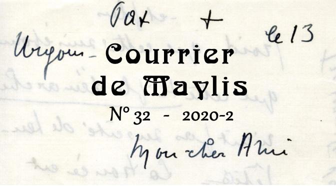 Courrier de Maylis sur fond de lettre manuscrite